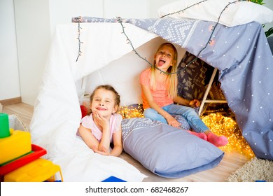 Two girls at a slumber party