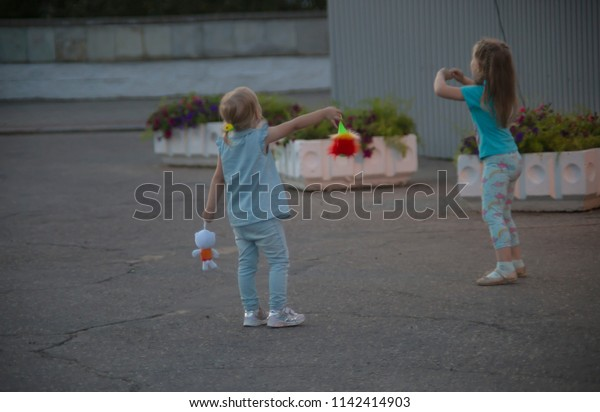 Two Girls Toys Stock Photo Edit Now 1142414903
