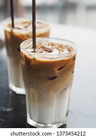 two glasses of Ice Latte