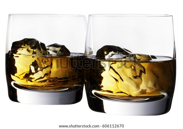 TWO GLASSES OF WHISKY CUT OUT