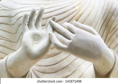 Two hand of Buddha