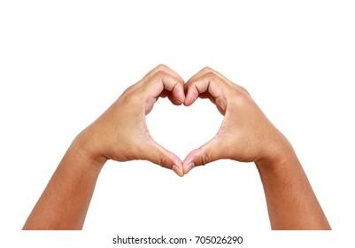 Two hand made heart shape