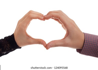 Two hands making heart symbol