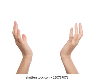 Two hands raised up