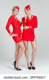 Two happy stewardesses