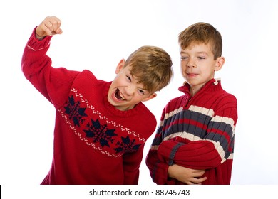 Two happy young boys