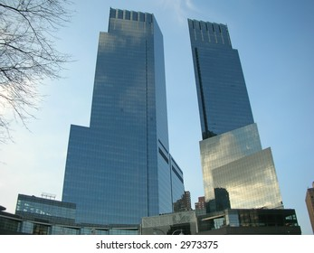 Two high business tower facing each other - New York.