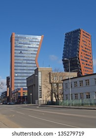 Two high-rise buildings in Klaipeda, Lithuania