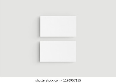 Two horizontal business cards on white background.Mockup