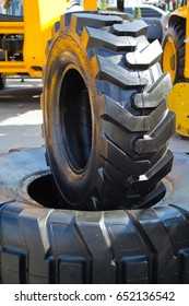 Two huge wheel and tire of truck