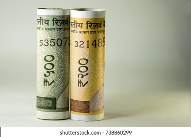 Two Hundred and Five Hundred New Indian Currency