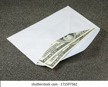 Two Hundreds US Dollars in white envelope, pay bills in cash