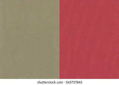 Two ivory(brown) textile(fabric) textures for background. (wooden, canvas)
