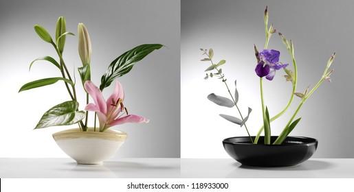 two japanese Ikebana samples