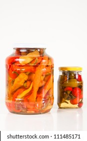 Two jars of paprika