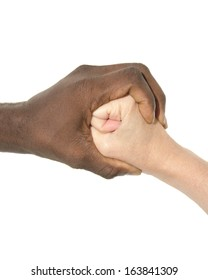 Two joint hands symbolizing diversity