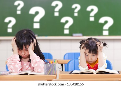 two kids is full of questions in class