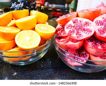 Two kinds of fruit in a container