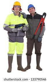 Two laborer colleagues