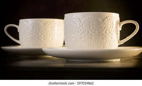 Two lace cups