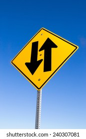 """The """"Two Lane Highway"""" street sign."""