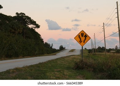 Two lane road signs