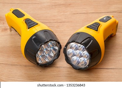 Two LED flashlight in yellow case