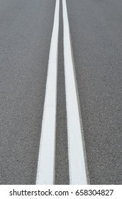 Two lines on the road