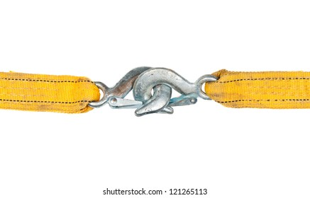 Two locked carabines isolated on white background