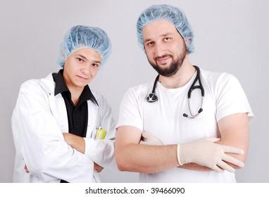 Two male doctors