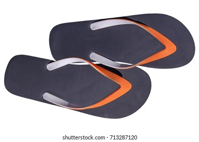 Two man lifestyle relax flip flops isolated on white