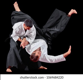 Two martial arts fighter isolated