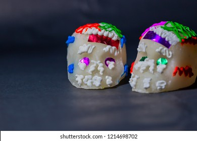 Two medium sugar skulls
