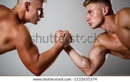Two Men Arm Wrestling Rivalry Closeup Stock Photo (Edit Now ...