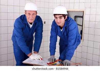 Two men DIY