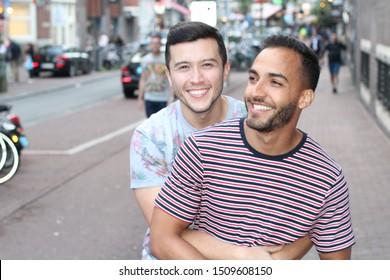 Two men falling in love