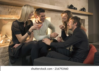 Two men and two women sitting together