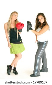 Two models on boxing.