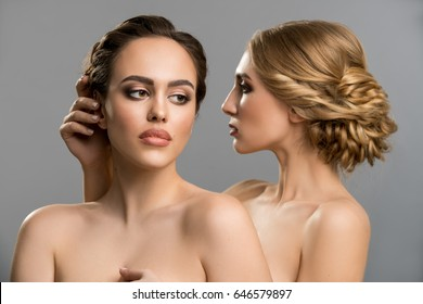 Image result for two women topless embrace