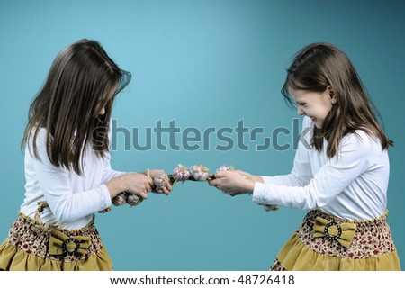 Made Little girls in handcuffs situation