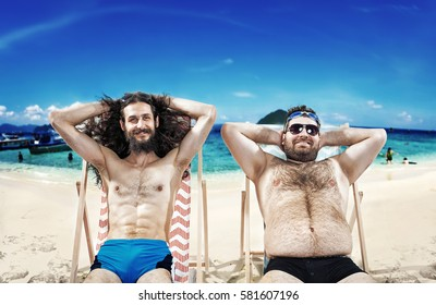 Two nerdy guys on vacation
