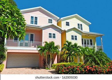 Two New Colorful Landscaped Beach Houses
