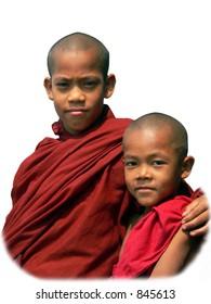 Two Novice Monks, Mandalay, Myanmar (Burma)