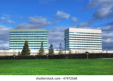 Two office buildings
