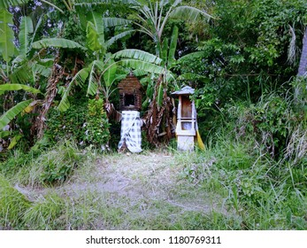 Two Old Balinese Shrine At The Farm Fields, Ringdikit Village, Buleleng, North Bali, Indonesia