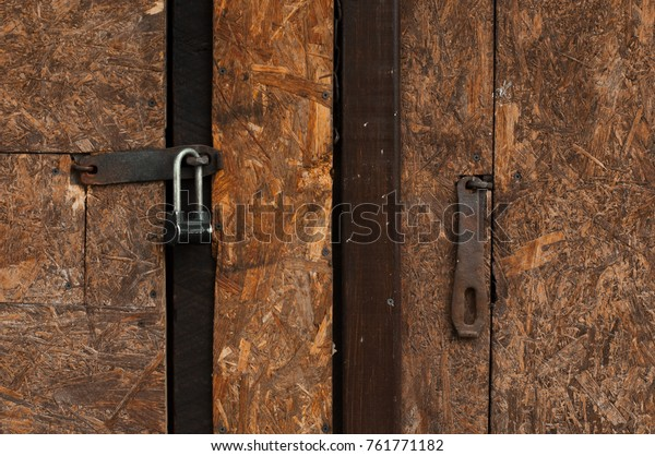 Two Old Doors Two Locks Stock Photo (Edit Now) 761771182