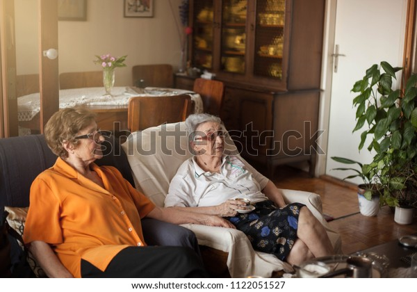 Two old women friends