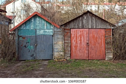 Two old garages