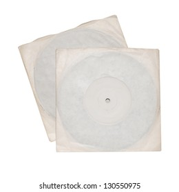 Two old vinyl single records discs in plain sleeves