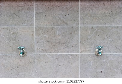 Two Outdoor Faucets